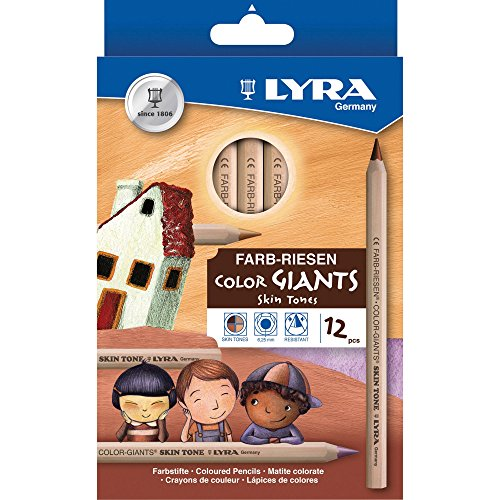 Lyra Color Giants Skin Tone Colored Pencils - 6.3 mm Lead Size - Assorted Lead - 12 / Set