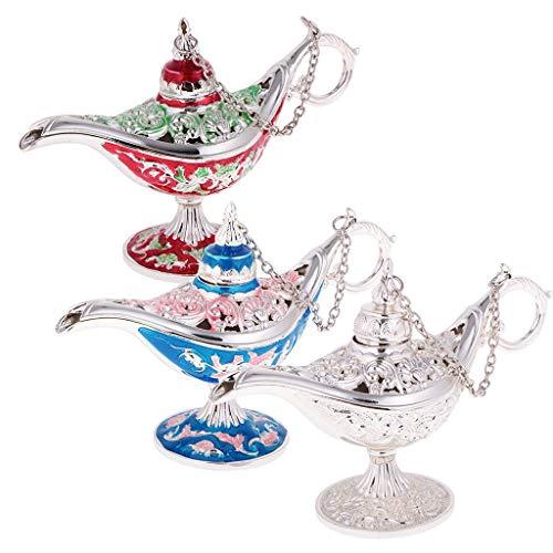 Tubayia 3 piezas vintage talladas de flor para joyero, lámpara mágica para decoración de regalo