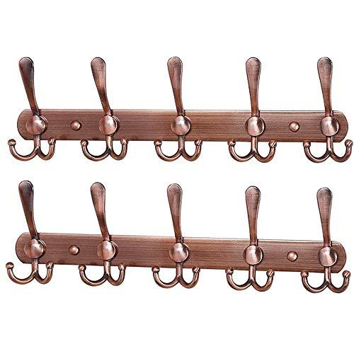 Encozy Türhaken zum Aufhängen an der Wand, Stahlhaken, Aufbewahrung für Mäntel, Hüte (Türhaken, schwarz, 2 Stück)