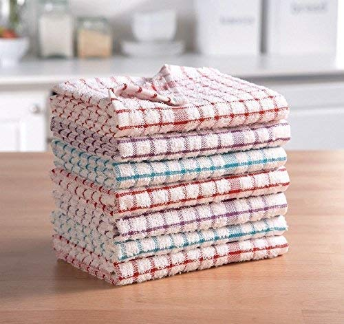 ARI TRADERS - Paño de cocina (100 % algodón puro, diseño de rayas, calidad de hotel, absorbente, tacto suave, larga duración, 2, 4, 6, 8, 10 y 12 unidades)