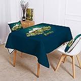 XXDD Mantel Impermeable de Personalidad Simple decoración de la Cocina del hogar Mantel Lavable a Prueba de Polvo Cubierta de Mesa A10 150x210cm