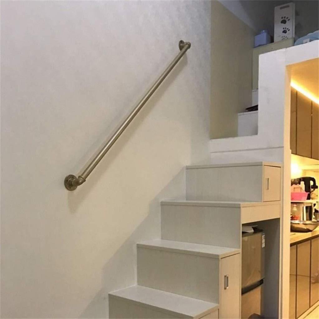 Baranda de escalera de bronce dorado de 25 cm-600 cm, tubería galvanizada de hierro forjado, tubería de agua estilo industrial, barandilla antideslizante for interiores, adecuada for jardín, escaleras: Amazon.es: Hogar