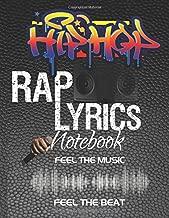 Hip Hop Rap Lyrics Notebook: Write Song Lyrics Notebook Journal