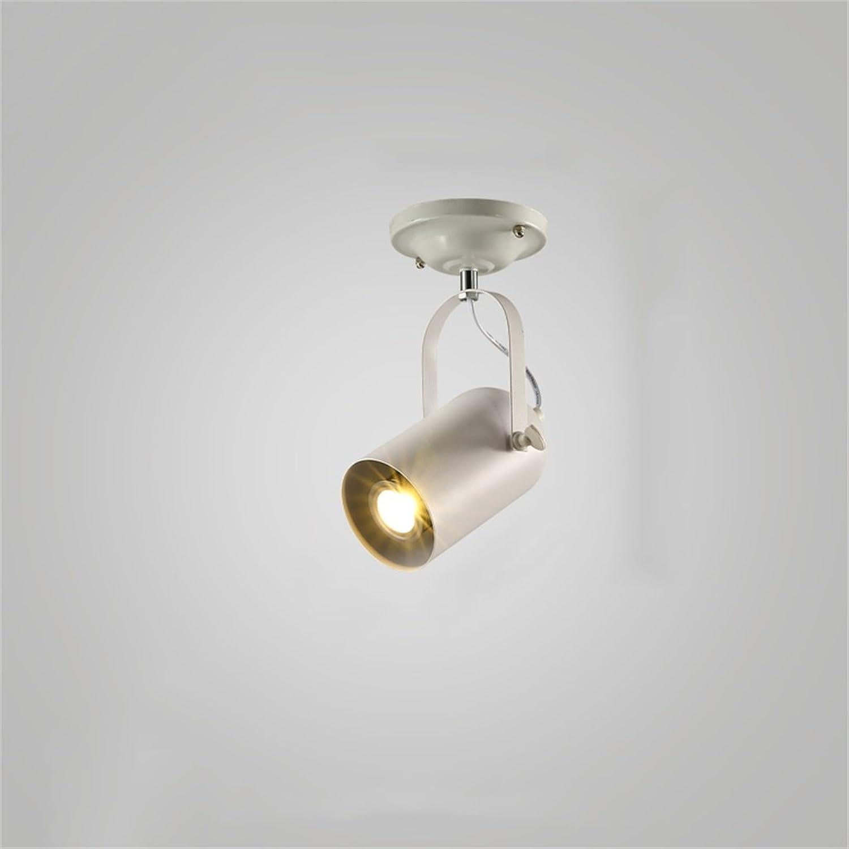 muy popular Focos para el Techo Viento Industrial Industrial Industrial Retro American Modern Minimalist Track Lights Salón Creativo Tienda de Ropa Focos de iluminación LED Personalizado (Color  blancoo) (Color   A)  suministro directo de los fabricantes