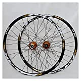 <span class='highlight'><span class='highlight'>CHUDAN</span></span> Mountain Bike Wheelset, 29/26 / 27.5 Inch Bicycle Wheel (Front   Rear) Double Walled Aluminum Alloy MTB Rim Fast Release Disc Brake 32H 7-11 Speed Cassette,B,26in