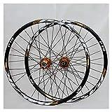 CHUDAN Juego de ruedas de bicicletas de montaña, 29/26 / 27,5 pulgadas de la rueda de bicicleta (frontal + posterior) 26in