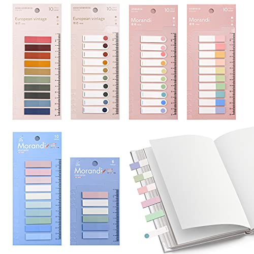 Zasjon índice adhesivo, 6 piezas marcapaginas adhesivos marcadores de páginas notas adhesivas pequeñas separador archivador notas adhesivas colores para escribir para leer notas libros y carpetas