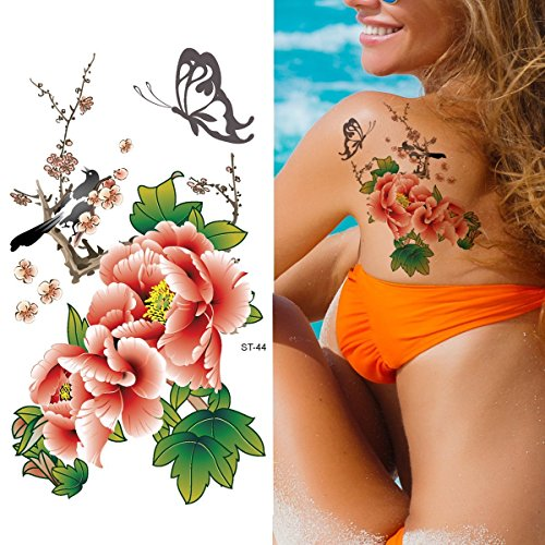 Supperb Temporary Tattoos - Flowers in Chinese Painting