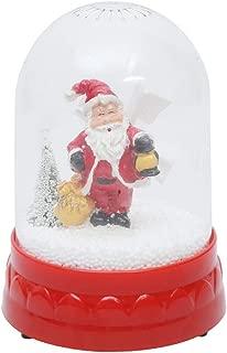 Lightahead Christmas Lighted Rotating Music Box Snow Globe with Santa Holding Lantern Inside, Falling Snowflakes, Music Playing