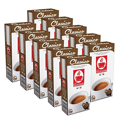 100 Kaffee Kapseln Nespresso kompatibel - Classico (10 x 10 Kapseln) von Bonini