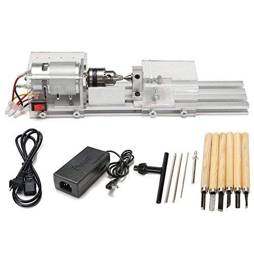 Vogvigo Mini Perlen Maschine,Drehmaschine Poliermaschine CNC Bearbeitung für Tabelle Holzbearbeitung Holz DIY Werkzeug Drehmaschine
