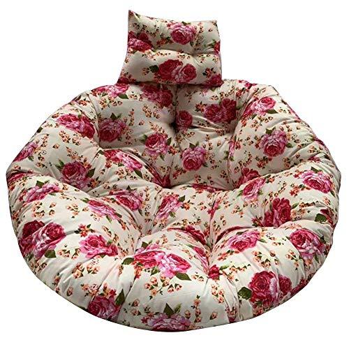 Jinclonder Mandkussen, schommelzitkussen, hangstoel met dikke bodem, rugleuning met kussen voor hangmatten, hangmanden, schommelstoelen schommelstoelen eetkamerstoelen