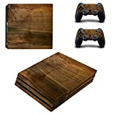 Wood board Vinyl Cover Decal PS4 pro Skin for Sony PlayStation 4 pro Console & 2 Controllers Protective Sticker