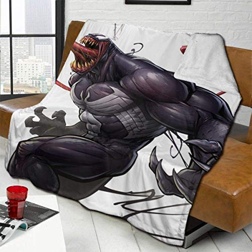 CHICHIHE Venom Movie Throw Blanket Fleece Blanket Ultra Soft Warm Lightweight Cozy Bed Blanket Fit Couch Sofa Suitable for All Season Throw