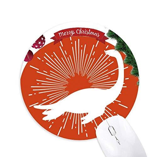 Schwimmende Tiere Halswirbel rund Gummi Maus Pad Weihnachtsbaum Mat