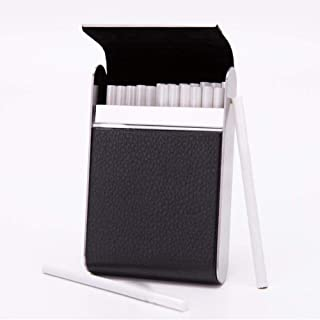 Cigarette Accessories, Cigarette Case Smoking Accessories, Hold 20 Cigarettes Stainless Steel Smoker Women Cigar Case, Foo...