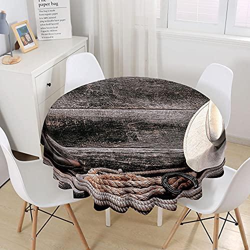 ETDSDVF Mantel de madera vintage con tablones redondos de 152,4 cm para bodas, banquetes, restaurantes, manteles de tela de poliéster