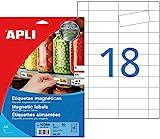 Agipa - Etiquetas magnéticas (8 x 2,8 cm, 90 Unidades)