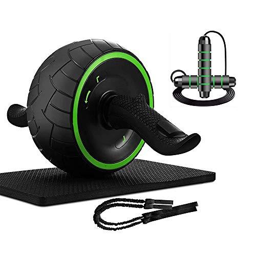 Baalaa Ab Roller abdominales Ejercicio entrenamiento con rodillera y bandas de resistencia para el gimnasio en casa ejercicio abdominal