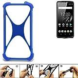 K-S-Trade® Handyhülle Für Oukitel K10 Silikon Schutz Hülle Cover Case Bumper Silikoncase TPU Softcase Schutzhülle Smartphone Stoßschutz, Blau (1x),