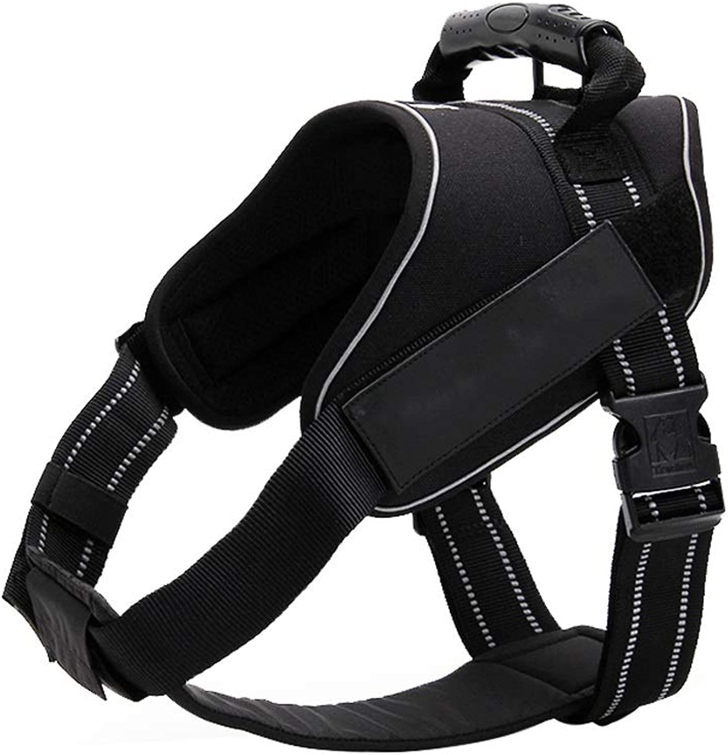 Dog Harness NoPull Pet Harness Adjustable Outdoor Pet Vest Oxford Material Vest for Dogs Easy Control for Small Medium Large Dogs (color   Black, Size   XL)