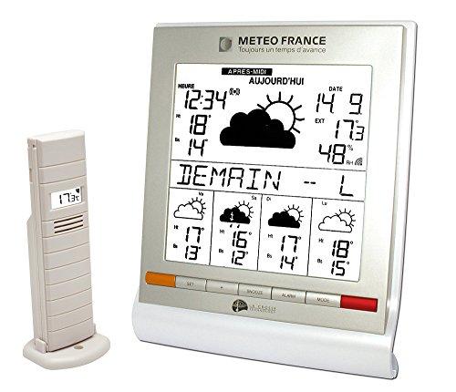 LaCrosseTechnology MétéoFrance WD9541 Wetterstation (funktioniert ausschließlich in Frankreich), Weiß