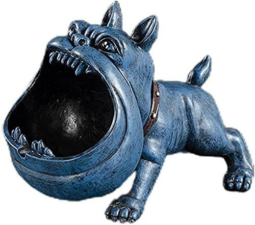 FGWE Cenicero de cigarros de Perro Creativo, diseño semicerrado y a Prueba de Viento para Reducir los Humos, fácil de Limpiar y decoración del hogar,Blue