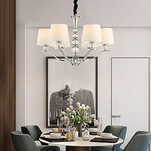 The only Good Quality woonkamerlamp, modern, zilverkleurig, stof, kunsthandwerk, kroonluchter van kristalglas, slaapkamer, restaurant, eettafel, hotel, Nordic 6, plafondlamp, 67 x 67 x 54 cm