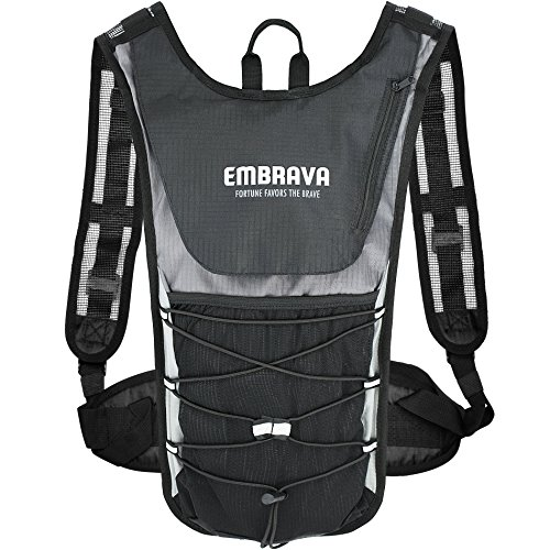 Embrava Sports Hydration Pack 2 Liter - Best Insulated Backpack with Water Storage Bladder - Outdoor Survival Water Bag for Running, Cycling and Camping - Durable and Lightweight