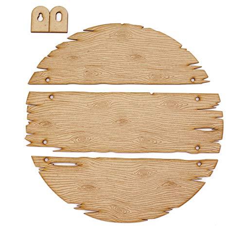 MDF Drijfhout Plank Cirkel Ophangbord Set (3 stuks)