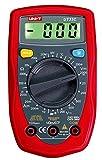 Multímetro digital de UNI-T, modelo UT33C/MIE0044. Detector de voltaje CA/CC, corriente CC, medidor de resistencia y temperatura, comprobación de funcionamiento y diodo