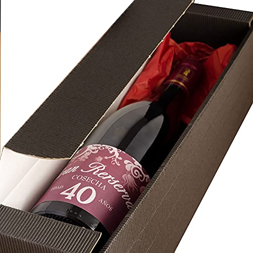 Botella de vino especial 40 cumpleaños o personalizada con la edad que tú quieras