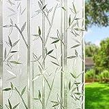 Umi.Vinilo Ventana Sin Pegamento Translucido 3D Ventana para la Protección Solar y de la Privacidad en Cocina Baño Dormitorio y Ducha Adherencia Electrostática Ventanas (60 x 200cm)