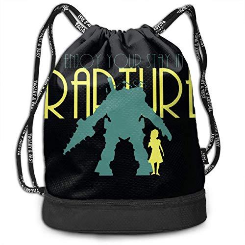 Rucksäcke,Sporttaschen,Turnbeutel,Daypacks, Bioshock Drawstring Bag Bundle Backpack Sports Backpack for Teens College