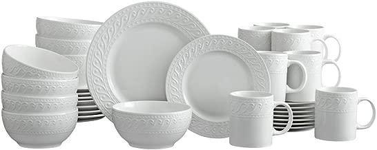Pfaltzgraff Sylvia 32 Piece Dinnerware Set, Service for 8, White