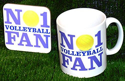 Nr. 1-Volleyball-Fan Tasse und Untersetzer