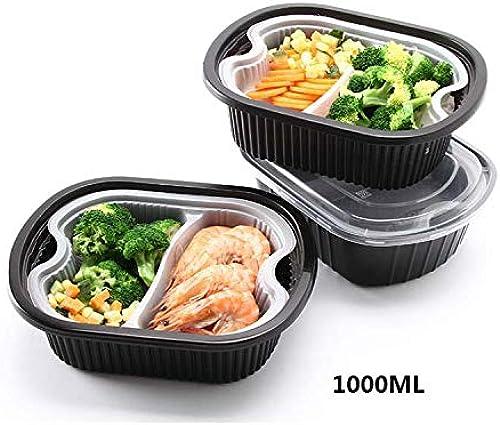 LJXiioo Beh er für die Zubereitung von Mahlzeiten   mit herausnehmbarem Einsatzfach, 2-stufiger Aufbewahrungsbox für Lebensmittel, Bento-Box mit Deckel