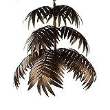 Newrays Lampadario a foglie di cocco tropicale regolabile vintage Lampadario unico rustico Albero Soggiorno Sala da pranzo Camere da letto Cucina Appesi per illuminazione