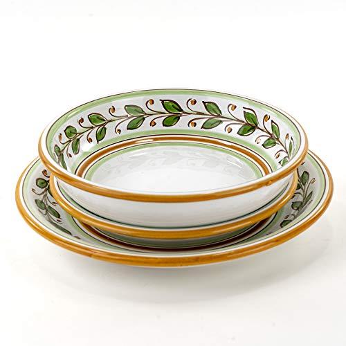Juego de 3 platos individuales de cerámica de Caltagirone decorados a mano