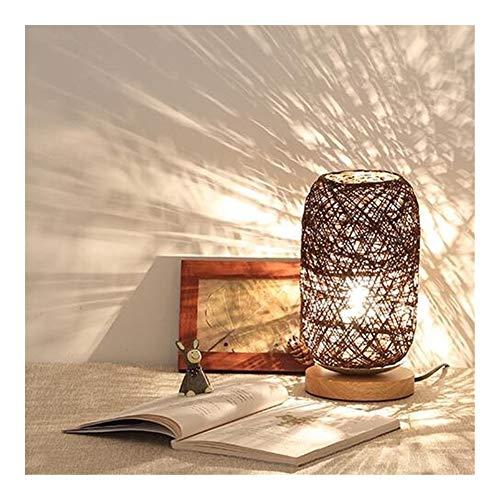 L-yxing-alto brillo Tela de madera maciza Lámpara de mesa pequeña Dormitorio alimentado por USB Lámpara de noche Decoración Estudio Original LED Luz de noche No lastimará tus ojos