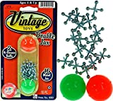 Vintage Metal Jacks Game Set Retro Toys (1 Pack) Jax Game & 2 Balls Classic Games Great Party Favors or Pinata Filler Toy in Bulk. 950-1B