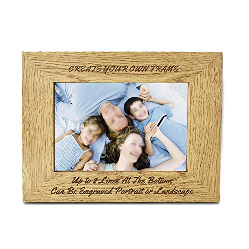 howson london Personalised Engraved 7' X 5' Wood Photo Frame - Personalised...