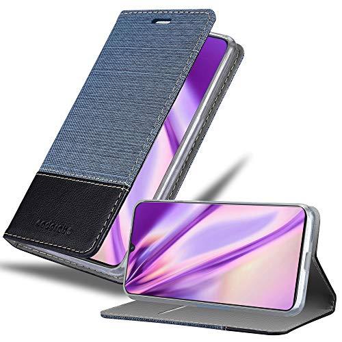 Cadorabo Hülle für Vivo V11 in DUNKEL BLAU SCHWARZ - Handyhülle mit Magnetverschluss, Standfunktion & Kartenfach - Hülle Cover Schutzhülle Etui Tasche Book Klapp Style