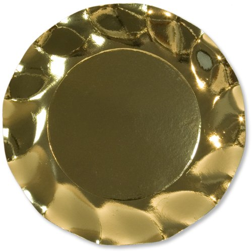 Piatto GR Oro Lucido 10Pz diam.27cm