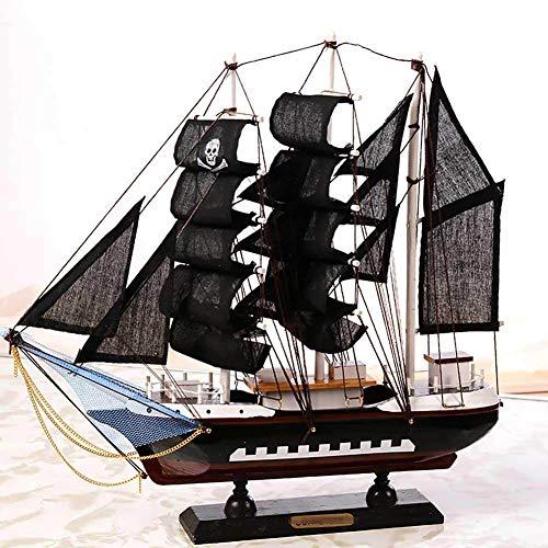 Guvd Tall Ship Barca a Vela Modello Craft Decoration Legno Nautical Corsair Ornamento da Tavolo Maritime Toy Crafts
