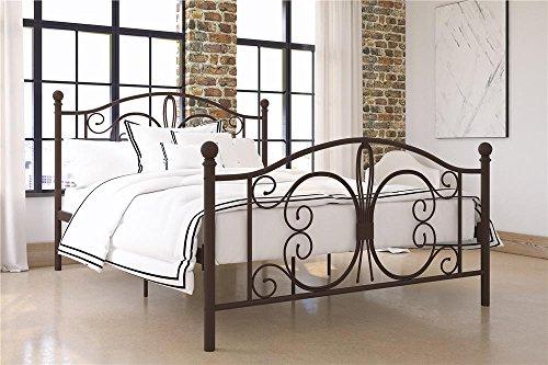 dhp full size bed frames DHP Bombay Metal Bed Frame - Vintage Design - Full Size (Bronze)