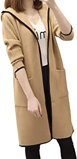 JMETRIE Women's Winter Loose Hooded Wild Elegant Windbreaker Sweater Coat Cardigan Coat Jacket