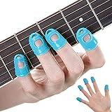 Guitarra Protector dedos,Protectores Silicona para Instrumentos Musicales,protectores de dedos Musicales,Guitarra Dedo,protector dedos guitarra,Guitarra Protector Dedos Silicona (Azul)