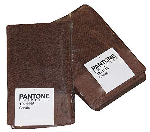 BASSETTI Pantone – Toallas de cara y bidé de algodón, juego de toallas de baño y invitados de rizo de 540 g/m², toalla de 50 x 100 cm para invitados 30 x 50 cm (Carafe – Marrón)