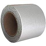 Super Waterproof Tape Waterproof Aluminum Foil Butyl Rubber Tape Flashing Tape Permanent Leak Proof Patch Tape for Outdoor Roof Flashing, RV Repair, Pipe Repair Tape 4 Inch X 16.4 Feet